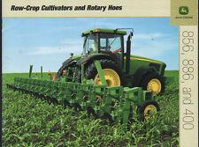 John Deere 856, 886 e 400 Trattore Riga-Crop COLTIVATORE & FRESATRICE Opuscolo