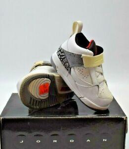 NEW! Nike Air Jordan Flight 45 (TD) WHITE/GREY TODDLER SIZE 4.5C (364759 161)
