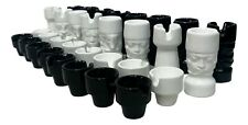 pedine scacchi in ceramica il picchio design enzo bioli 32 pezzi raro vintage