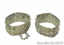 ANTIQUE Bulgarian folk jewelry cuff bracelet/necklace set Ottoman ethnic costume