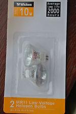 Pack 12 (6 packs of 2) Wickes TBA-CG Halogen MR11 GU4 12V 10w 36D  Bulbs 2000h