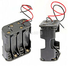 12V Plastic Battery Holder Box Storage Case For 8Pcs AA Batteries Wire Leads au