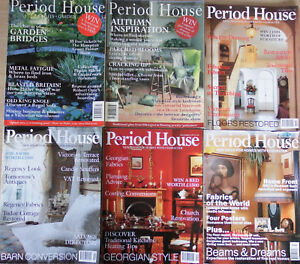 Period House Magazines 6 Issues 1995-99, Garden Bridges, Subsidence, Thatching