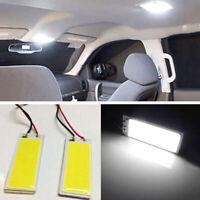 2x HID Xenon White 36-COB LED Dome Map Bulb Light Car Interior Panel Lamp 12V