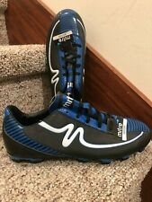 Mitre Boys Soccer Shoes Size 6 Black Blue New Without Box