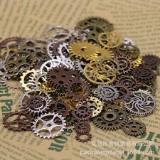200g Mixed Vintage Engrenages Steampunk Metal Charms Gear Fit DIY Jewelry Making