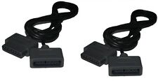 TWO 2 EXTENSION CABLE CORDS FOR SNES SUPER NINTENDO 16 Bit CONTROLLER