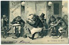 SINGES HUMANISéS.HUMANIZED MONKEYS. LA TERRASSE DE CAFé.