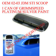 JDM STi Hood Scoop- 02-03 Subaru WRX, 04-08 FXT w/ Grimmspeed Rally Blue Paint