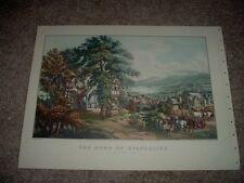 CURRIER AND IVES 1864 THE HOME OF EVANGELINE Acadian Land Pastoral Village LITHO