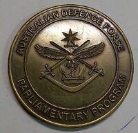 *AUSTRALIA  DEFENCE  FORCE  PARLIMENTARY  PROGRAMME DESK MEDAL  6X6CM, 99.1GM