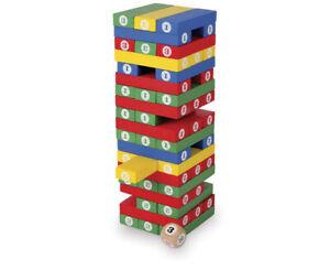 Wackelturm mit Zahlen und Würfel / Zahlenturm - fördert die Konzentration Spiele