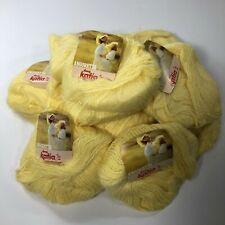 Vtg Katia Angoretta Knitting Yarn Faux Angora Acrylic Yellow 7111 Bag of 11