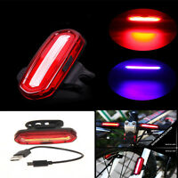 USB Rechargeable COB LED Bicycle Bike Cycling Front Rear Tail Light 6-Modes Lamp