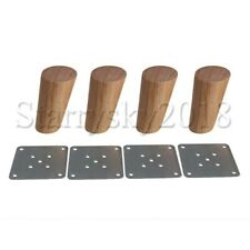 4pcs Oak Wooden Furniture Table Legs for Sofa Cabinet Bed Feet Replacement