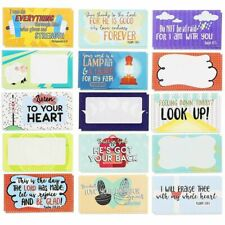 60-Pack Religious Lunch Box Note Cards with Bible Verses for Friends Family