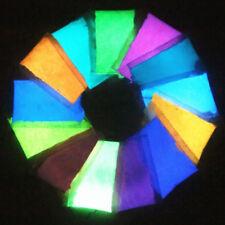 13 x Bright Glow-in-the-Dark Powder Fluorescent Pigment Strontium Aluminate