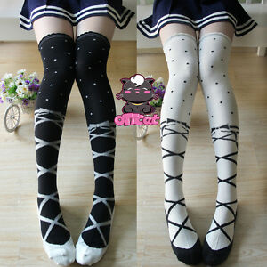 Cute Lolita Over-knee Kawaii Ballet Thigh High Stocking Dance Socks Cosplay