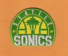 OLD LOGO SEATTLE SUPER SONICS  since 1967 3 inch IRON ON PATCH Unused Stock