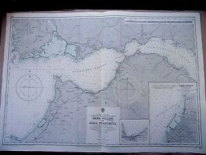"1971 GREECE Akra Killini to Akra Psaromita - ADMIRALTY Map Chart 28"" x 41"" D52"