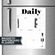 Magnetic Whiteboard. Large A3 Flexible Fridge Magnet Planner by Stick with Sam.