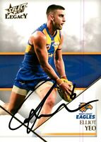 ✺Signed✺ 2018 WEST COAST EAGLES AFL Premiers Card ELLIOT YEO