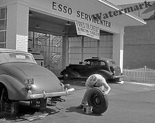 Photograph of an Esso Gas Station Tire Sale Washington DC  Year 1940 8x10