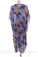 Ladies Nightdress Blue Rope/ Animal Nightie Kaftan Night Dress Size M Chemise