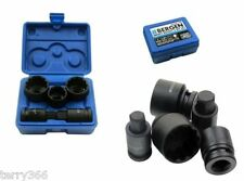VW AUDI 5pc HUB-NUT SOCKET /BIT SET 24 30 32mm 12pt Sockets 14mm17mm Hex   2085