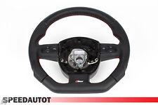 Mise au Point S-LINE Aplati Cuir Volant Multifonction en Noir Audi A3