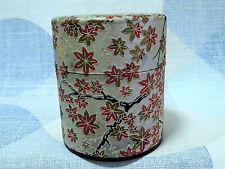 Japanese 3 inch empty can for Japanese tea : design maple