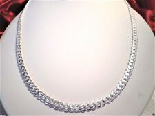 """mens/womens 24"""" Miami Cuban engraved link chain 6mm 18k white gold plated"""