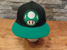 Super Mario Hat Cap 1 Up Mushroom Wool Blend Spandex One Size Fits Most Nice!