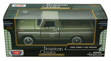 MotorMax 79315 American Classics 1:24 Green '69 Ford F-100 Short Bed Pickup