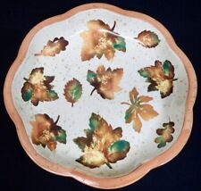 """Large 15"""" Ciao Italia by Bellini Hand Painted Italian Pottery Bowl w/ Leaf Decor"""