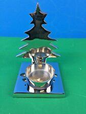 Metal Home Decor Candleholder w Christmas Tree Shade Aluminium 13x10x15 cm NEW