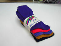 5 pairs navy blue gold lilac pink purple multi pack ms everyday wear socks 4-7