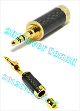 1x Stereo Mini Connector Gold Plated Carbon Fiber Plug Jack 3.5mm CF3518G