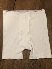 Vtg Nos Men's Coldmaster Cotton Mid Thigh Brief Underwear Sz Xxl Made Usa