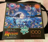 Buffalo Games Marine Color Dramatic Night 1000 Piece Jigsaw Puzzle Whales Ocean
