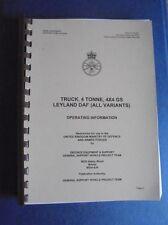 Army Leyland DAF 45, 4 Tonne truck 4 x 4 Operating information.