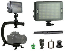 CAM CADDIE STARTER KIT + LED 160 Video Light for Canon T6 Nikon Sony A7 Alpha A9