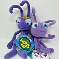 Disney - A Bugs Life - Mini Bean Bag ATTA & DOT 8'' Plush NWT