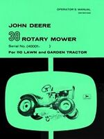 John Deere 38 Rotary Mower 110 Tractor Operators Manual