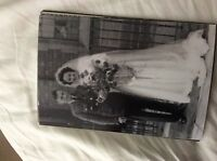 M17b8 6x4 Inches reprint Photograph ww2 Wedding Couple bride a058 white dress