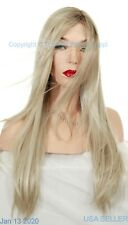 Ariana   Jon Renau Wigs   lace front Monotop Long Straight   PALM SPRINGS BLOND