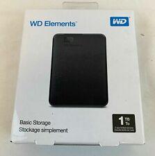 WD Elements 1TB Portable Storage USB 3.0 WDBUZG0010BBK-WESN Black