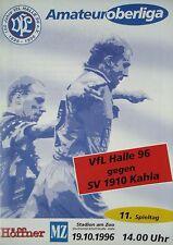 Programm 1996/97 VfL Halle 96 - SV Kahla