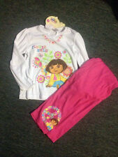 girls dora the explorer pj's/pyjamas set bnwt sz 5 super cute a47