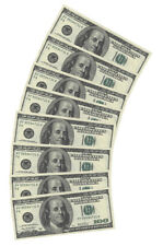 $100 DOLLAR USA AMERICAN MONEY PAPER NAPKINS X10